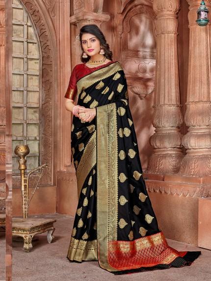 grabandpack indian Black color saree