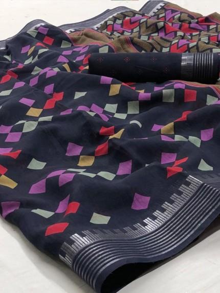 Party wear Digital Printed saree