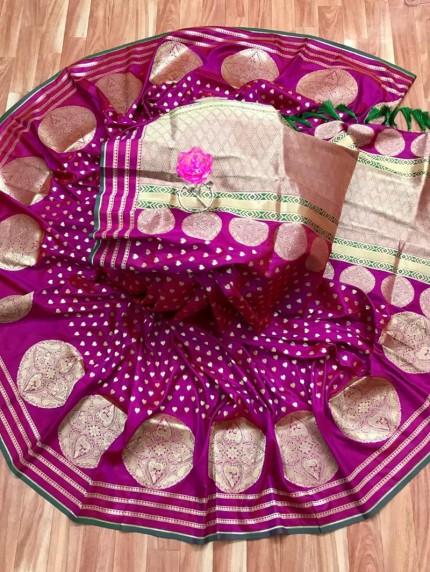 Soft Silk Saree in Pink
