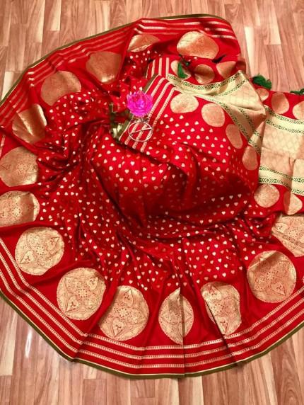 Soft Silk Saree in Red