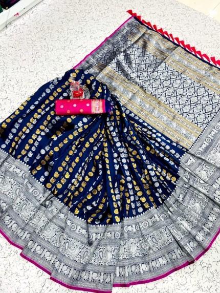 blue soft silk sarees online shopping
