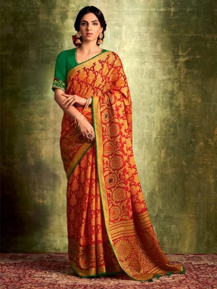 Exclusive Designer Soft Brasso Silk saree gnp0108364