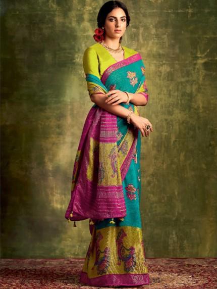 Exclusive Designer Soft Brasso Silk saree