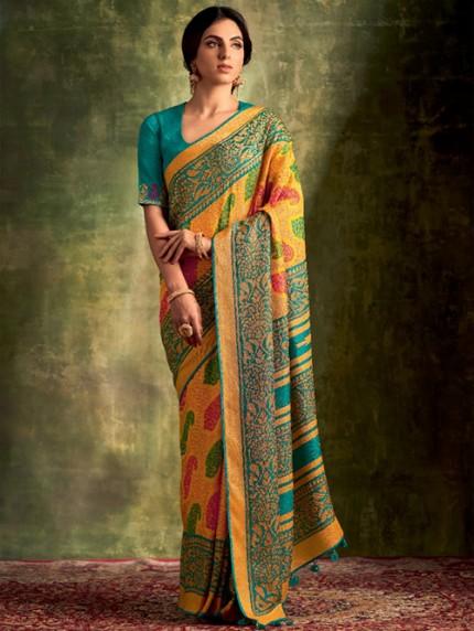 GrabandPack Exclusive Designer Soft Brasso Silk saree