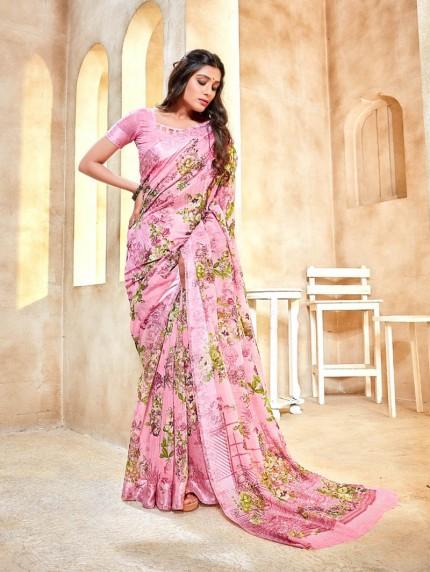 floral printed saree online
