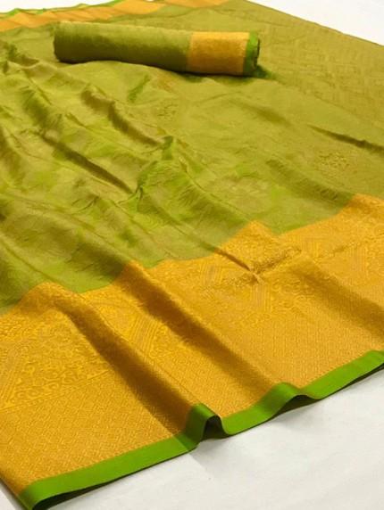 Green Nylon Dying Silk Saree - gnp008292