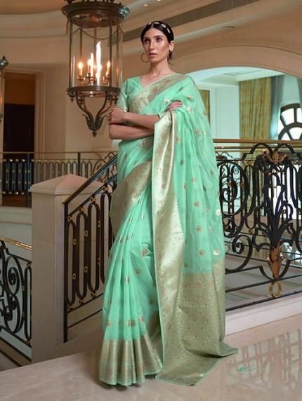 Green Pure Modal Handloom Weaving Work Saree - gnp0108666