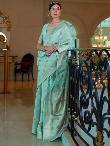 Green Pure Modal Handloom Weaving Work Saree - gnp0108667