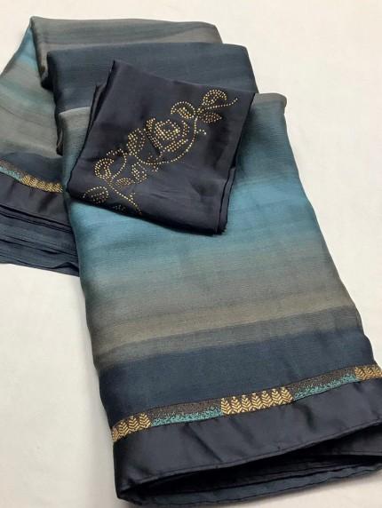 grabandpack Chiffon Party wear saree
