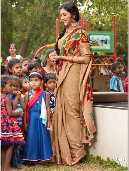 Kalamkari Printed Soft Cotton With Weaving Border - gnp008164