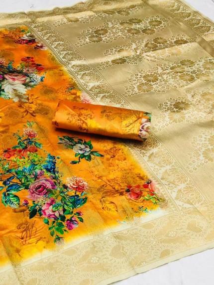 Floral Printed saree at grabandpack