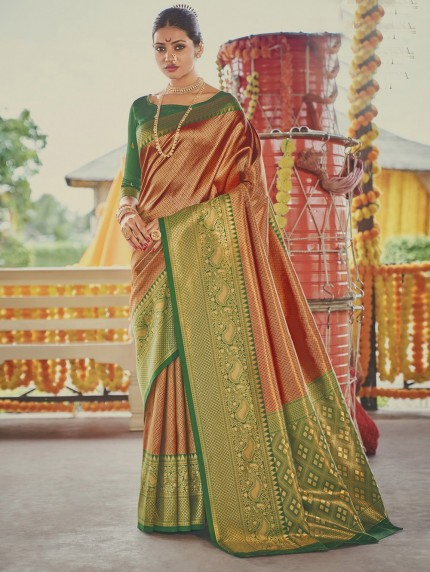 Maroon Colored Weaving Silk Sarees - gnp0108905