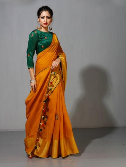 Designer saree with Designer Blouse