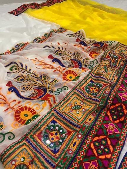 Navratri Special Katchi Embroidery Saree - gnp008227