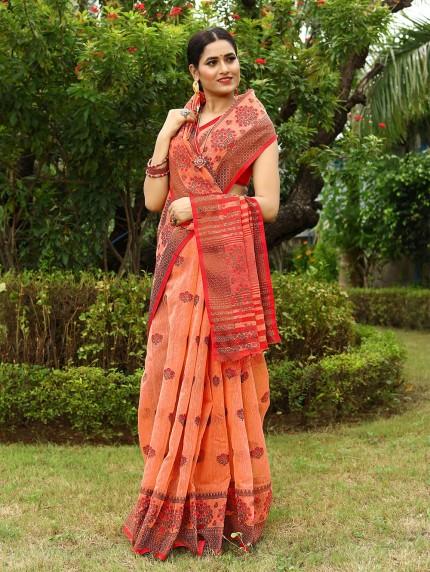 GrabandPack linen sarees online shopping
