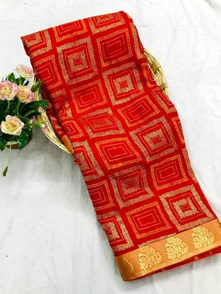 marbal chiffon printed Fancy saree