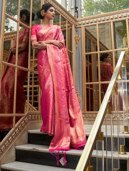 Pink Colored Banarasi Silk Online Saree Shopping - gnp0108028 - discount