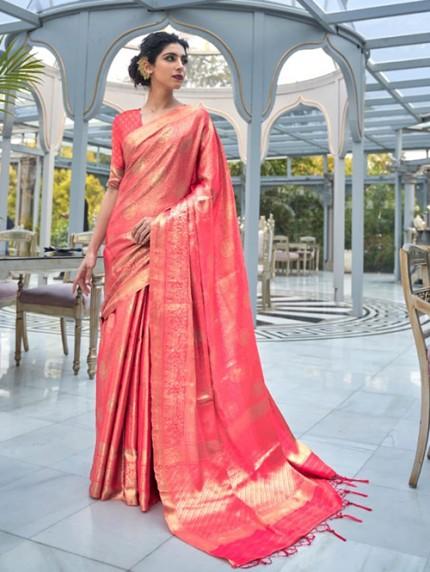 Pink Colored Banarasi Silk Online Saree Shopping - gnp0108029