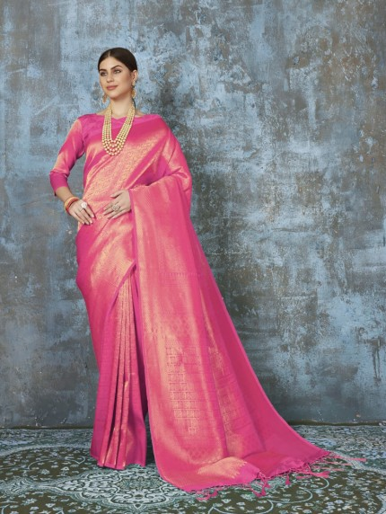 Pure Premium Silk saree in Pink
