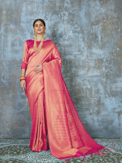 Premium Silk saree in Peach