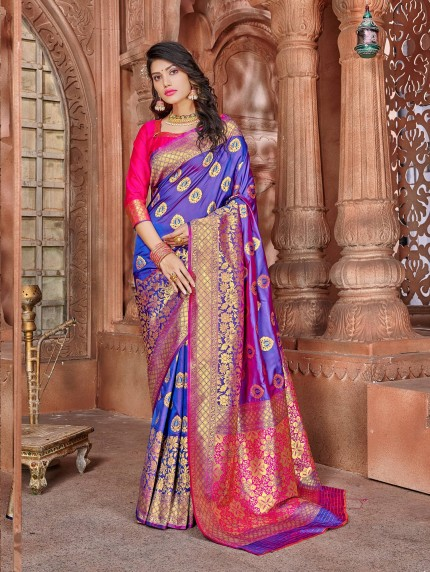 grabandpack purple saree for wedding