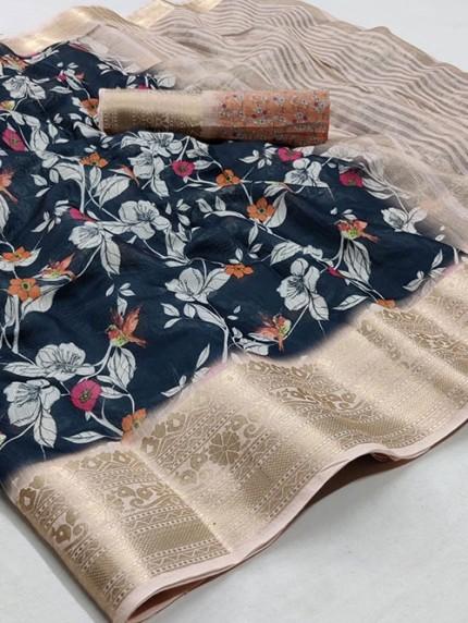 Soft Cotton With Digital Print Saree - gnp008256