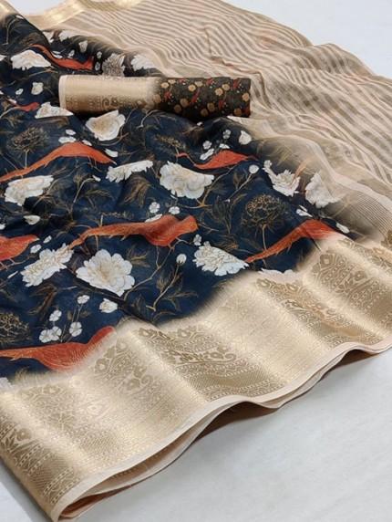 Soft Cotton With Digital Print Saree - gnp008258