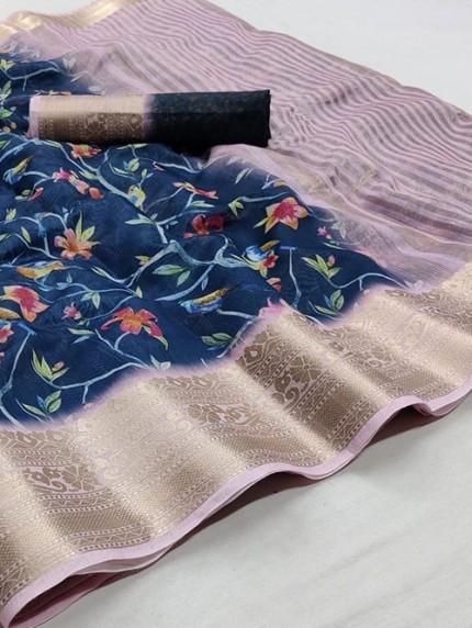 Soft Cotton With Digital Print Saree - gnp008259