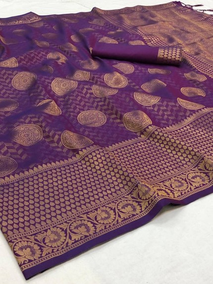 Soft kanjivaram silk Two tone Saree