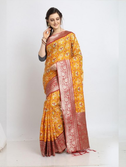 GrabandPack soft silk Patola saree