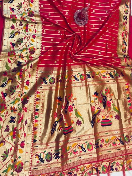 GrabandPack Pink Pethani Silk saree