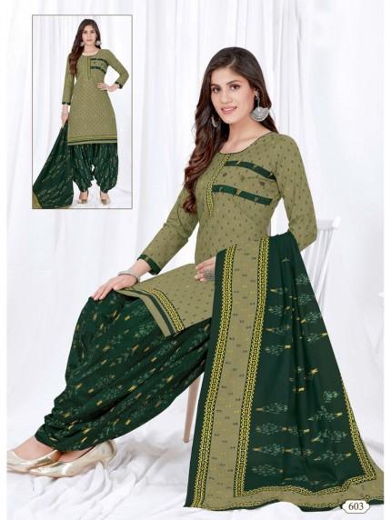 women's Stunning Printed Pocket Style Patiyala Salwar suit