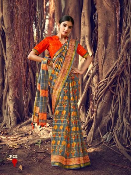 linen saree online grabandpack