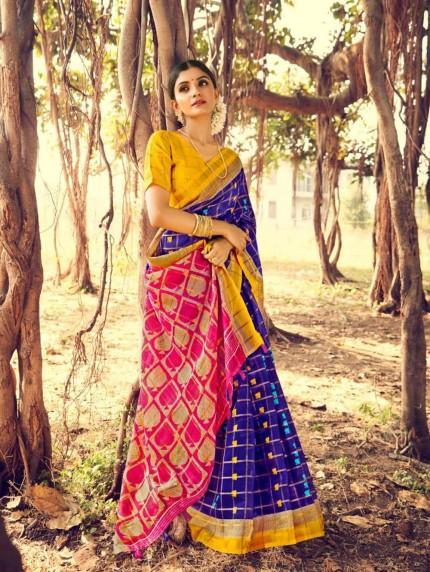 grabandpack linen saree blouse designs