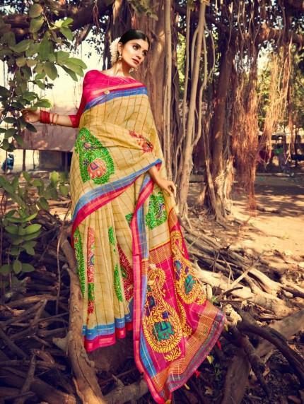 grabandpack linen saree blouse designs pinterest
