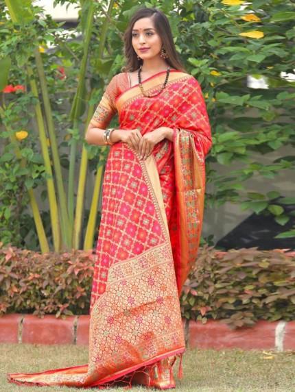 branded fancy Patola silk sarees