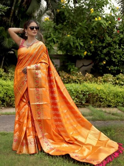 Grab and Pack Jacquard Silk Saree