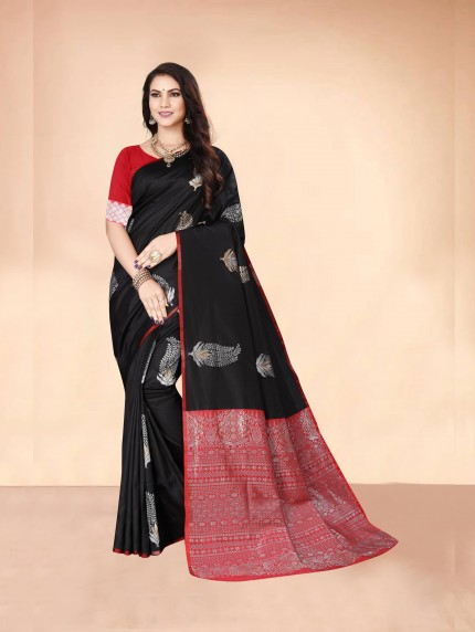 black saree for farewell GrabandPack