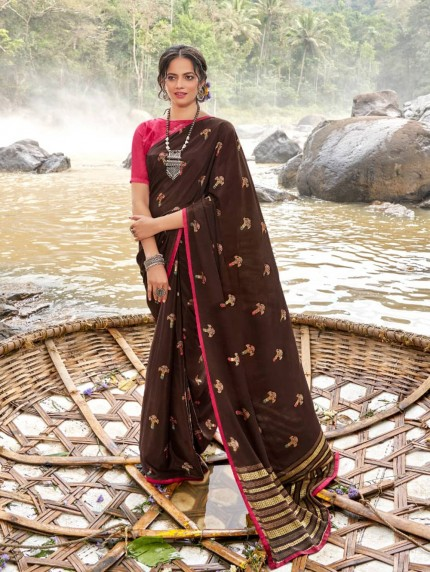 indian Brown color saree online