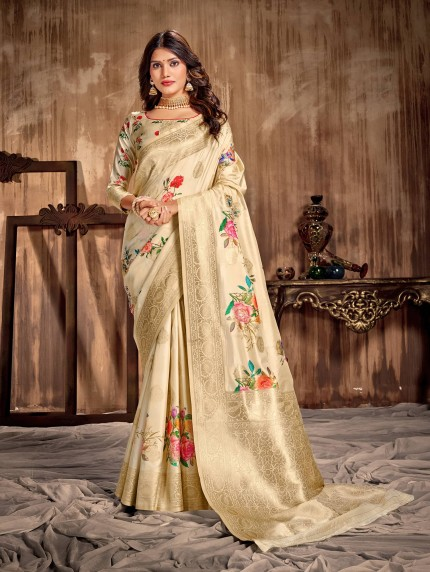 grabandpack printed saree floral