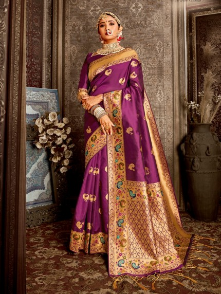 purple color saree images  grabandpack