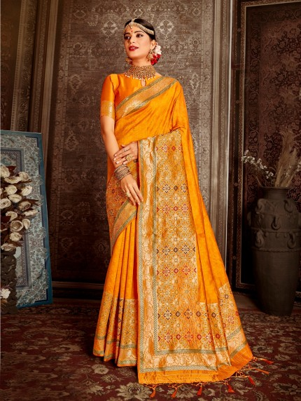 Grabandpack yellow color saree design