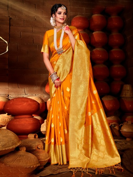 Orange Sarees - Shop For Orange Saree Online grabandpack