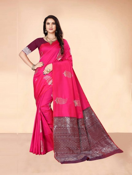 pink saree with brown blouse designs grabandpack