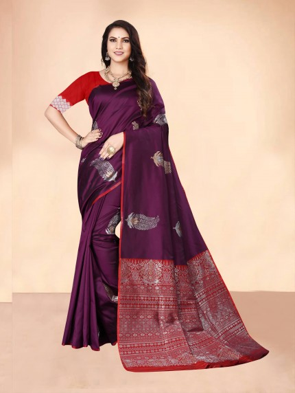 grabandpack purple saree look