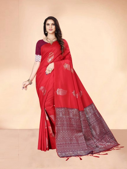 red saree look	grabandpack