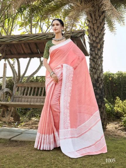 women's Soft Linen Party wear saree