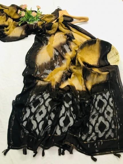 stylish & classy Brasso Attractive Saree in Black