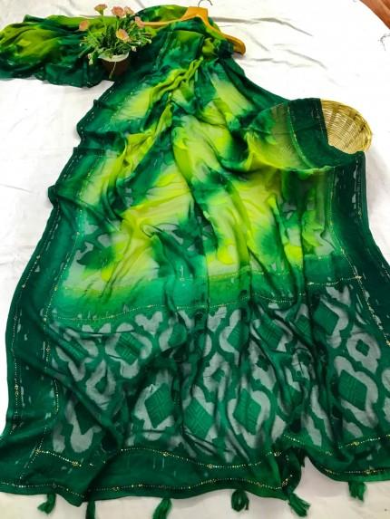 Attractive Green Saree