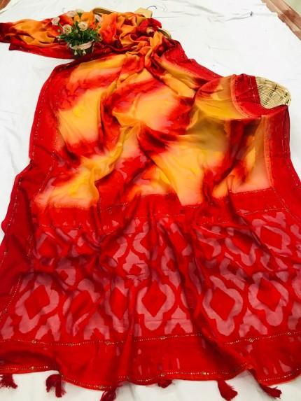 Attractive Red Saree